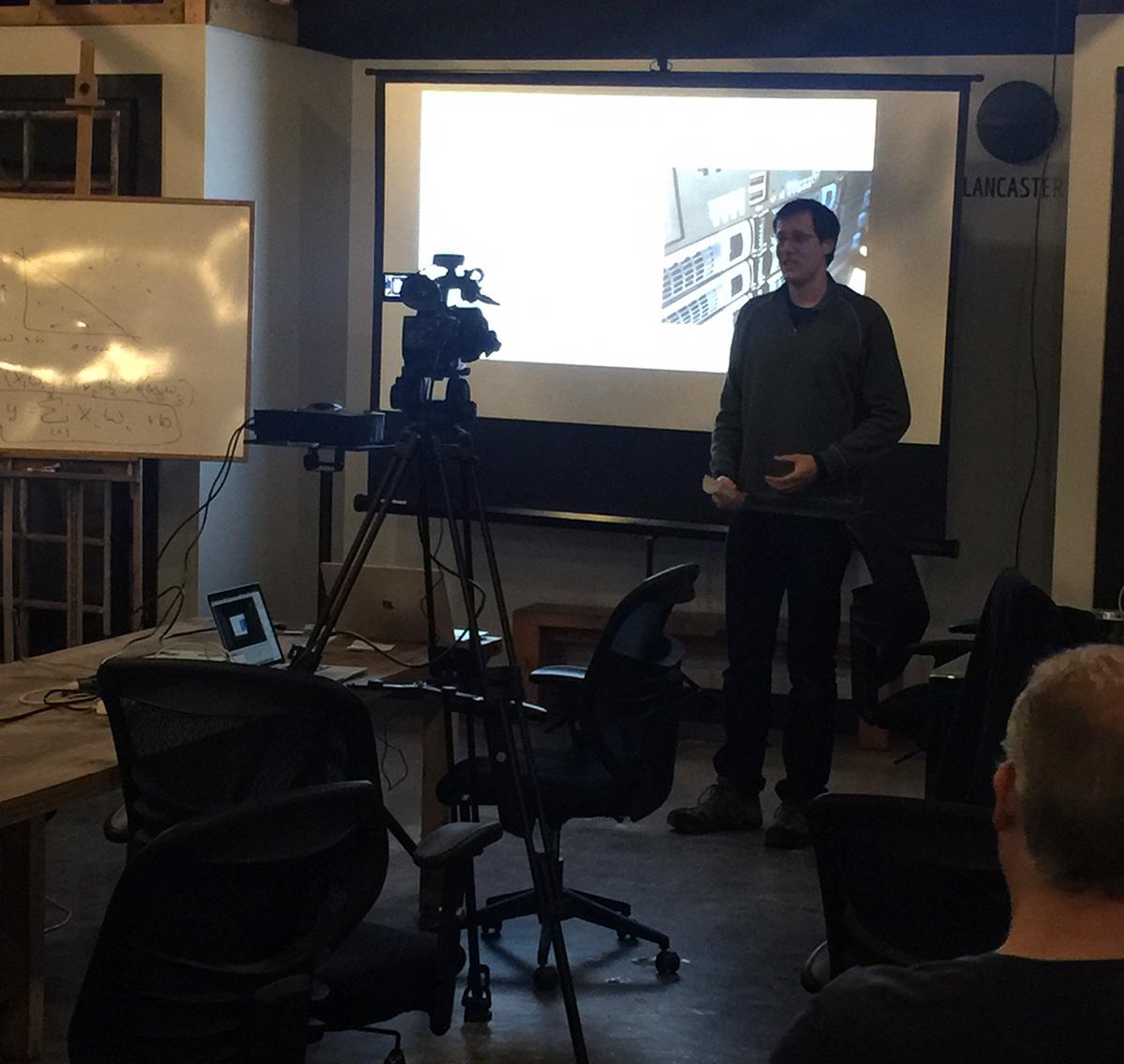 Wes Roberts speaking at Lancaster AI